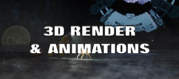 3D Render e 3D render animation